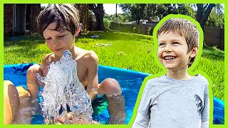 Backyard Water Hose Fun