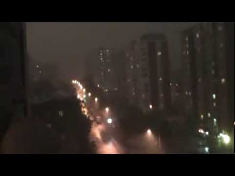 Москва 11.08.13 гроза (ст.Ховрино) ч.1