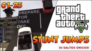 GTA V - DICAS - #1 - 50 STUNT JUMP - 50 SALTOS ÚNICOS NO GTA 5