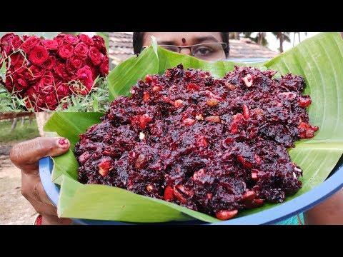 Yummi Red Rose Halwa / Rose Petals Halwa Recipe / Food Money Food