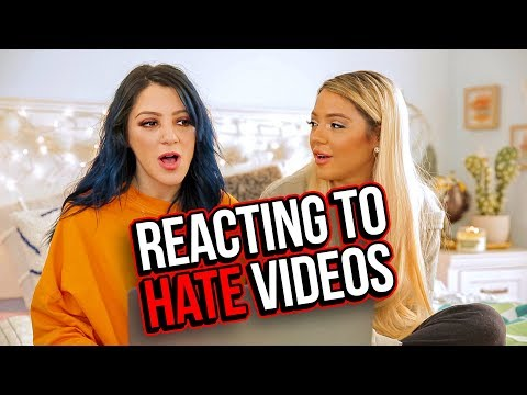 Reacting to Hate Videos &  Compilations (Niki & Gabi)