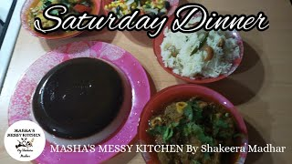 Saturday Dinner Lamb Curry, Chicken Curry and Coffee flavour Agar Agar in Tamil
