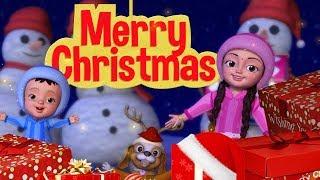 Christmas tree par chamakte hue sitare! Christmas Songs | Hindi Rhymes for Children | Infobells
