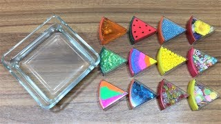 Mixing Random Things into Clear Slime | Slimesmoothie | Satisfying Slime Video !
