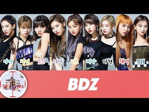 TWICE (트와이스) - BDZ (Korean Ver.) (Color Coded Lyrics)