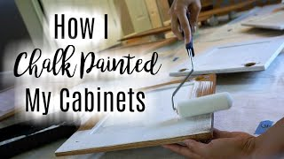 How I Chalk Painted my Cabinets: Budget Kitchen Makeover Series