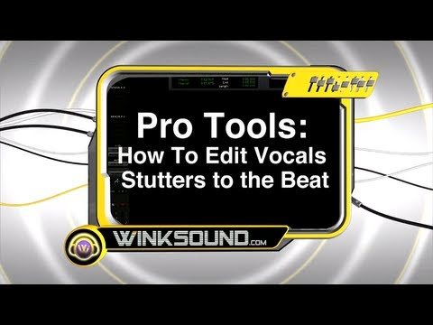 0 Pro Tools: How To Edit Vocal Stutters | WinkSound