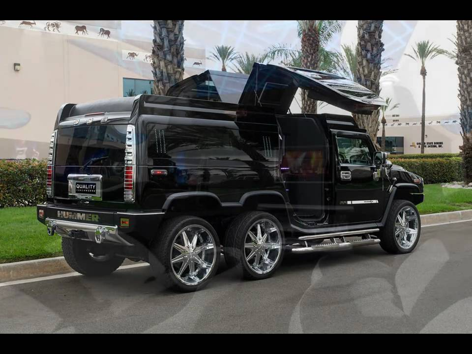 TANDEM AXLE HUMMER H2 LIMO CONVERSION BY QUALITY