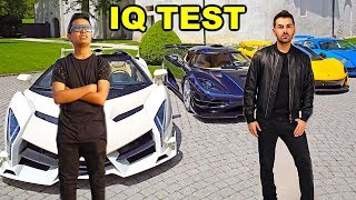 BILLIONAIRE DOES IQ TEST!!!