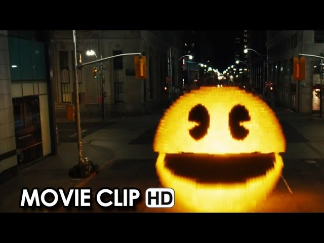 PIXELS Official Pac-Man Clip 'Happy 35th Birthday!' (2015) HD