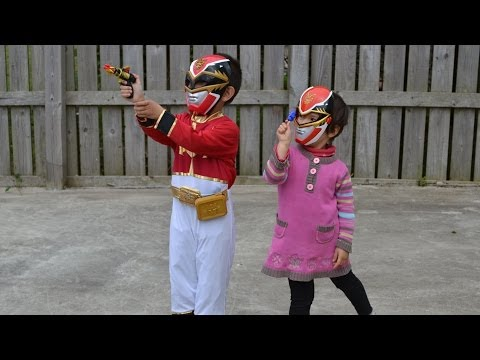 Kids Halloween Red Ranger costume + Red Ranger Training Set from Power ranger Megaforce