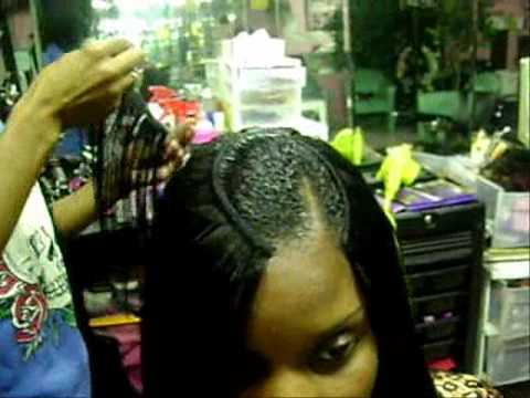 Tutorial of Invisible Part QuIck Weave Part 1