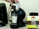 nescafe dolce gusto coffee demonstation (making a cappuccino)
