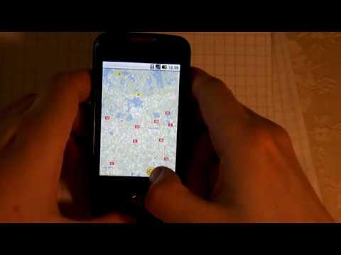 Samsung Galaxy Spica - Google Maps