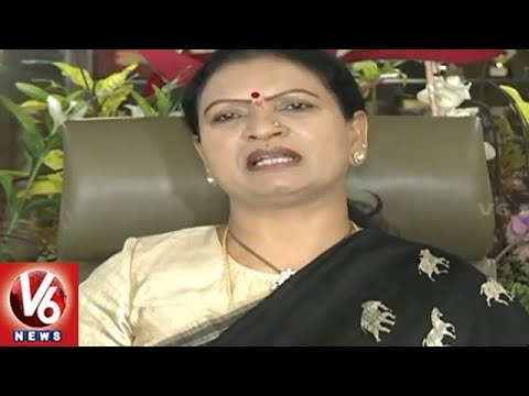 DK Aruna Slams CM KCR And Minister Harish Rao For Claiming Palamuru Project | V6 News