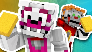 Minecraft Fnaf Sister Location - The Basement Clean Up (Minecraft Roleplay)