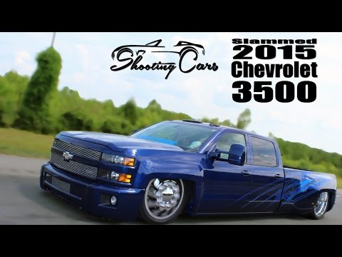 Bagged and Bodied 2015 Chevrolet Silverado 3500. The Six Pack Dually!
