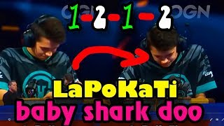 🔥LaPoKaTi   BEST Funny Moments CRL 2019👈 baby shark doo doo - Clash Royale