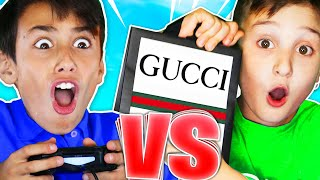 9YR OLD vs 12YR OLD FOR GUCCI!!! - Fortnite Deathrace Challenge