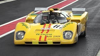 Ferrari 512 M Screaming at Spa-Francorchamps + Close Fly-Bys Heading Into Eau Rouge!