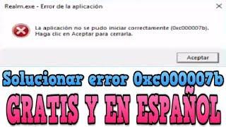 solucionar error 0xc000007b en STEAM (windows 10, 8, 8.1, 7, vista, XP) español - Gratis 2018