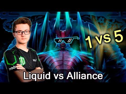 Miracle 1 vs 5 fastest comeback — Liquid vs Alliance