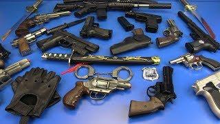 GUNS TOYS - VIDEO FOR KIDS ! Gun Toys, Ninja, Military & Police Toys - BOX OF TOYS