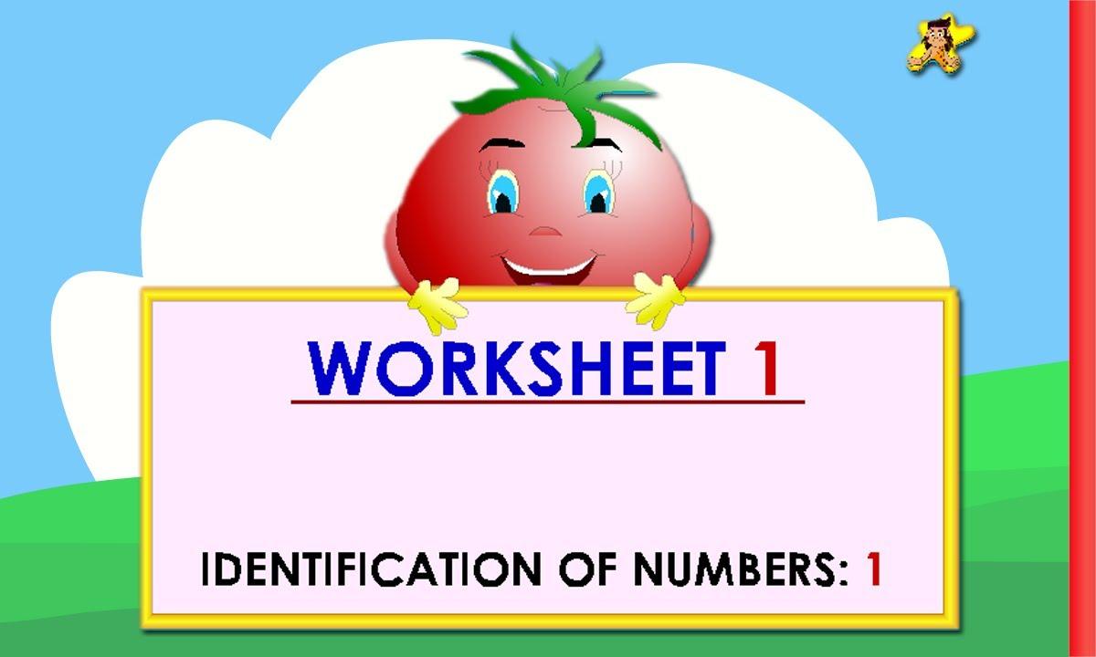 Kindergarten learning numbers worksheets - number 1 - YouTube