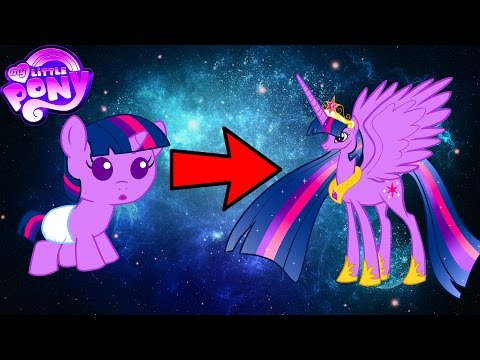 My Little Pony Mane 6 Transforms - From Baby to Beautiful Princess - MLP Coloring Videos For Kids