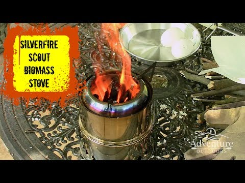 Silverfire Scout Biomass Cooking Stove ~ Frying Eggs