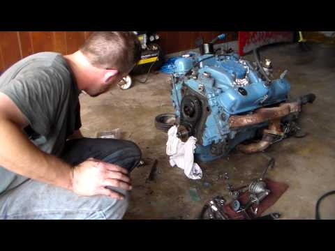 Dodge 318 timing cover gasket replacement part 4
