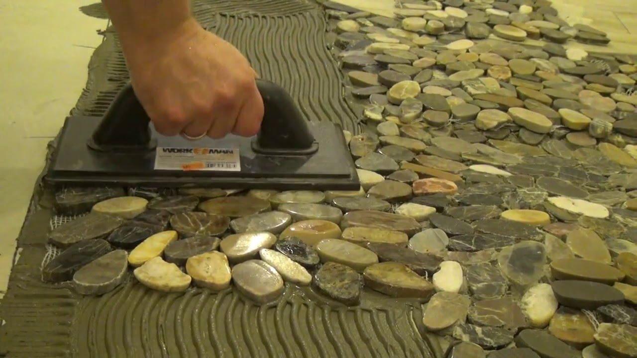 Плитка из морских камней своими руками 10
