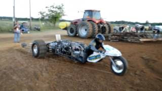 "Top Fuel trike ""Wild Thing"" pro sand drags @ Gilbert Louisiana"