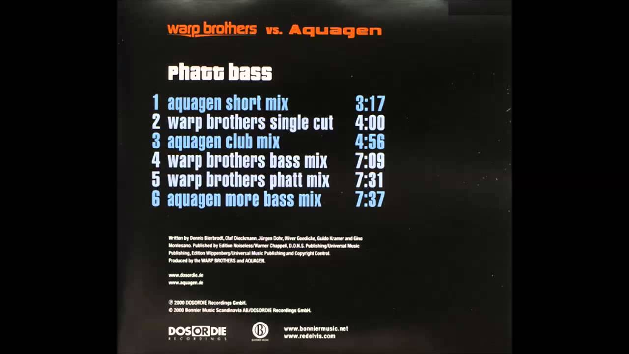 Warp Brothers vs. Aquagen - Phatt Bass - We Will Survive