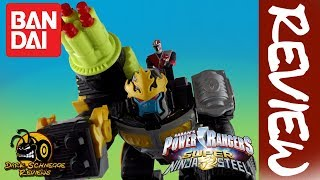 Bandai Power Rangers│SUPER Ninja Steel GORILLA BLAST ZORD Review [German/Deutsch]
