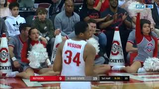 (NCAAM) Rutgers Scarlet Knights at #16 Ohio State Buckeyes in 40 Minutes (2/20/18)
