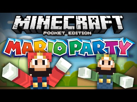 MARIO PARTY ADVENTURE!!! - Mario Mini Game for MCPE - Minecraft Pocket Edition