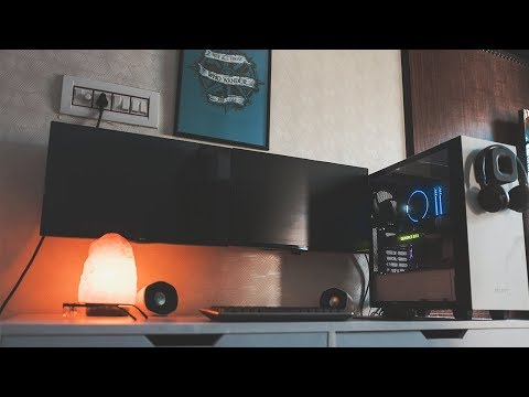 The Ultimate Minimal Setup Tour of 2017?!-My Desk Tour(4K)!
