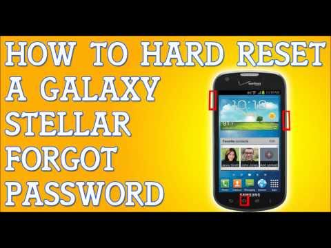 Forgot Password Galaxy Stellar How To Hard Reset Samsung