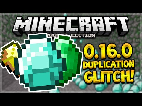 MCPE 0.16.0 DUPLICATION GLITCH! Minecraft Pocket Edition 0.16.0 Unlimited Diamonds (Pocket Edition)