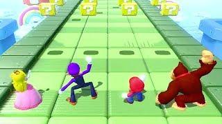 Super Mario Party - Strike It Rich -Peach Vs Mario Waluigi DK All Funny Minigames (Master Cpu)