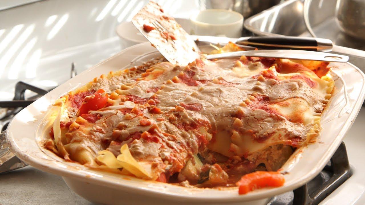 Vegan Lasagna Recipe - Olive Garden Vegetarian Style - YouTube