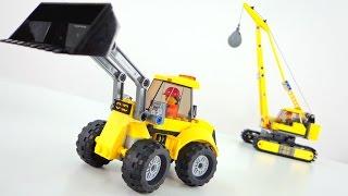 Игры для детей. Собираем бульдозер из конструктора Лего (Lego). Видео для детей.