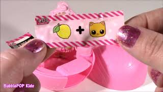 BubblePOP Kids! LOL Lil Outrageous Littles DOLL! 7 Layers of Surprise! PEZ Lip Balms! Helo Kitty GLO