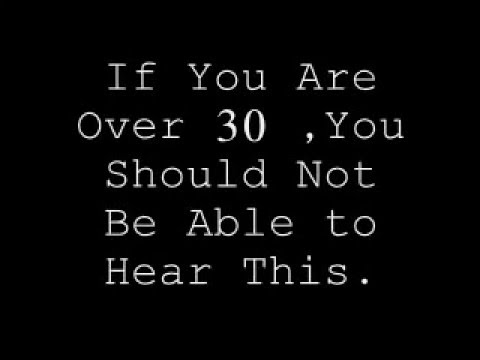 Can adults hear high pitched sounds