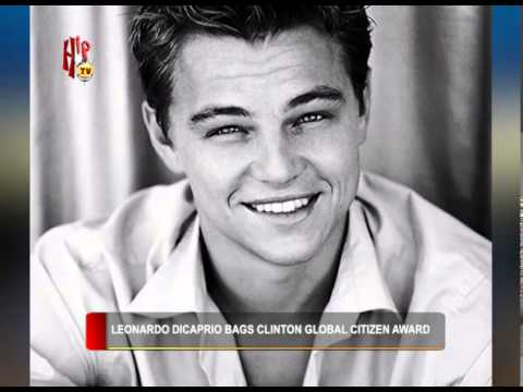 HIPTV NEWS - LEONARDO DICAPRIO BAGS CLINTON GLOBAL CITIZEN AWARD