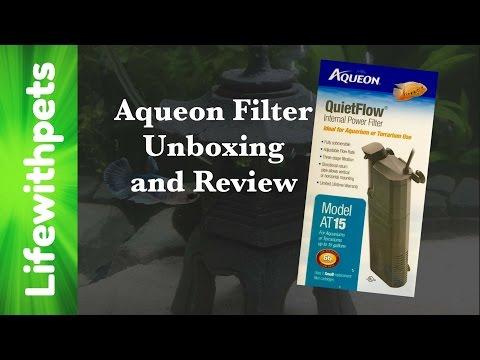 Aqueon QuietFlow Internal Filter Review and Unboxing.