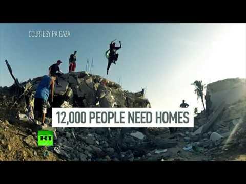 Les ados palestiniens transforment Gaza en un terrain de parkour