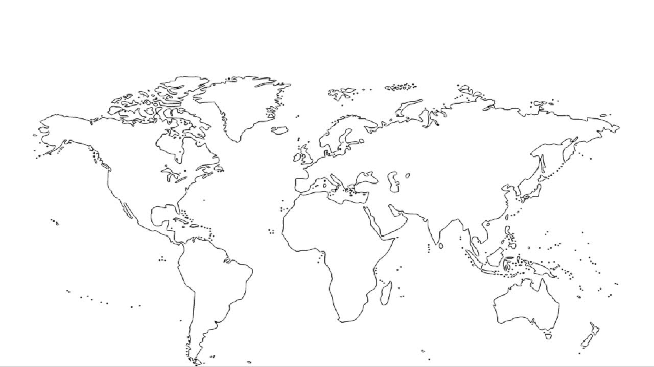 How To Draw World Map For Kids How To Draw World Map With