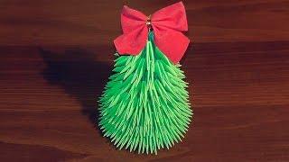 Новогоднее модульное оригами Елка мастер класс (мк)